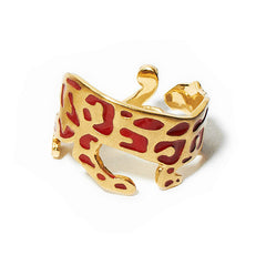 Panther Ring Enamel | Coral