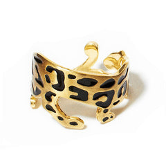 Panther Ring Enamel | Black