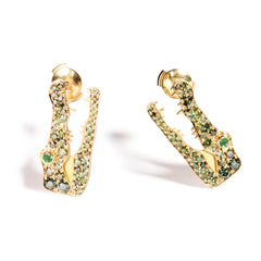 Crocodile Earrings Pave