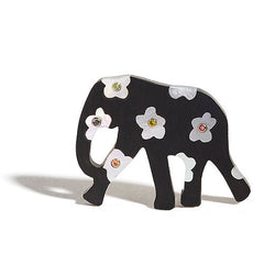 Elephant Pendant Inlay | Flowers