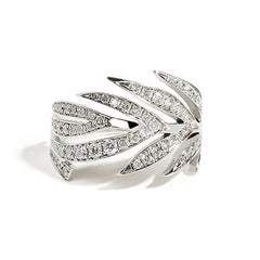 Leaf Ring Full Pave Winter
