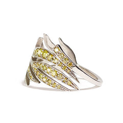 Leaf Ring Full Pave Summer