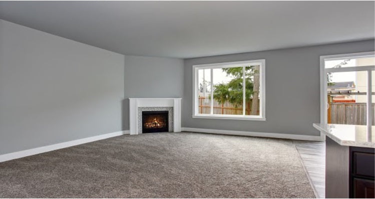 Room with carpet lay on the floor