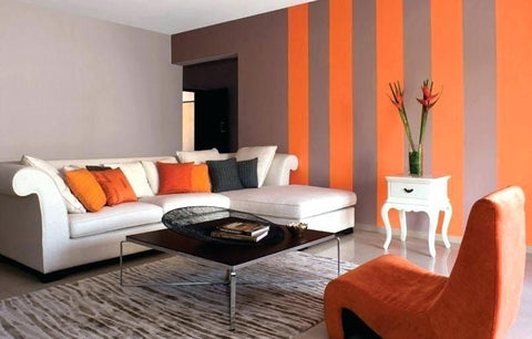 Colorful walls in modern interiors