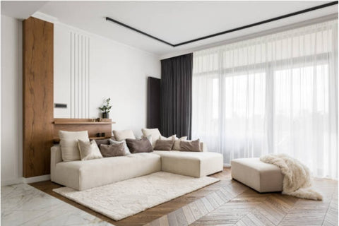 Area rug with hardwood flooring; rug size guide