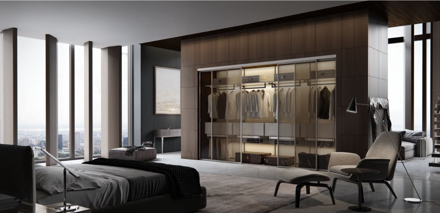 Bedroom with furniture; Interior design ideas for bedroom