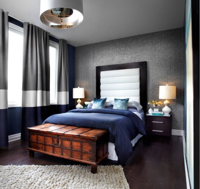 Curtains; Interior design for bedroom