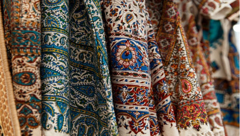 Hand-knotted rugs; colorful