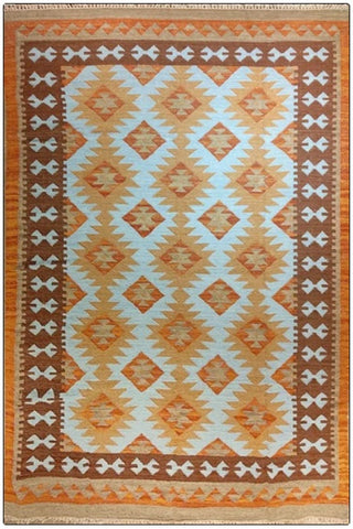 Handwoven dhurrie rug for high traffic areas