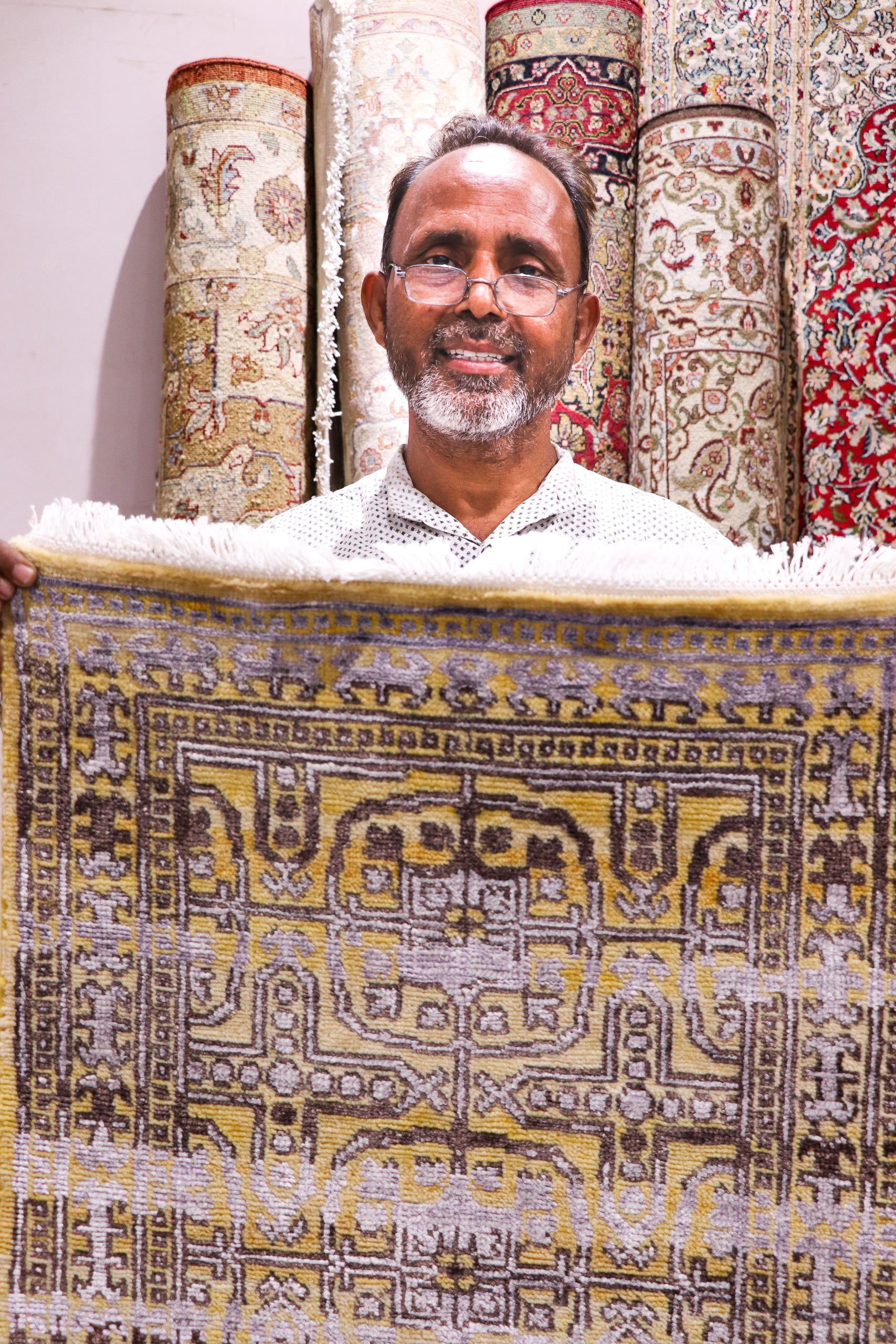 Faiyaaz with his recent carpet