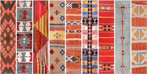 Multiple carpets; colorful; types of carpet