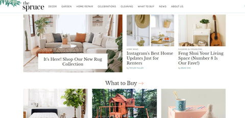 The Spruce homepage site