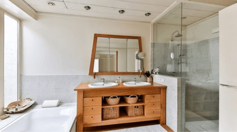 Jazzed up space of a bathroom