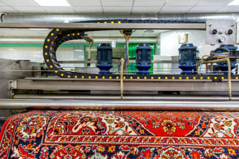 Machine making rugs; How a rug is made