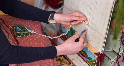 Making of hand-knotted rug; why hand-knotted rugs are expensive