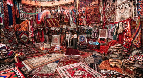 Many rugs and a couple