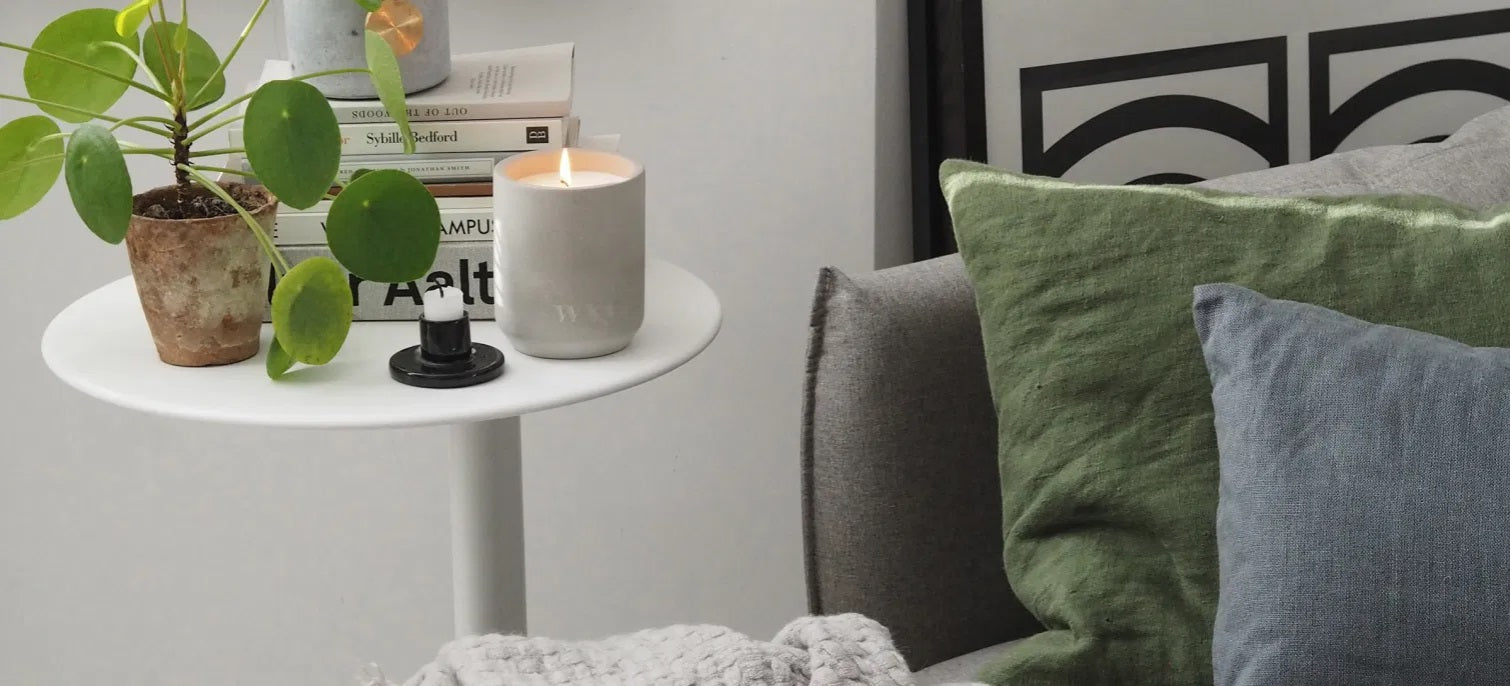 Nature and scented candles on a table
