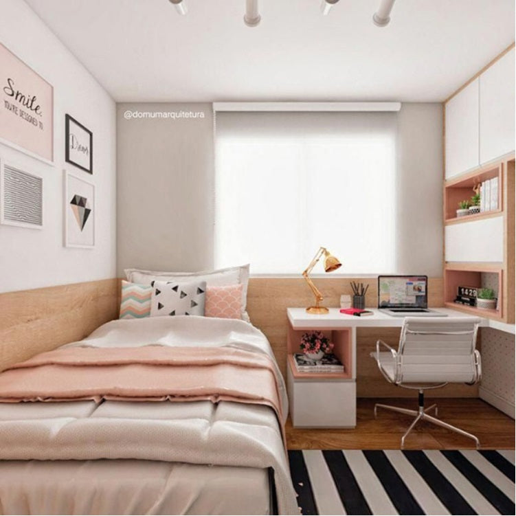 Study table and space in a bedroom