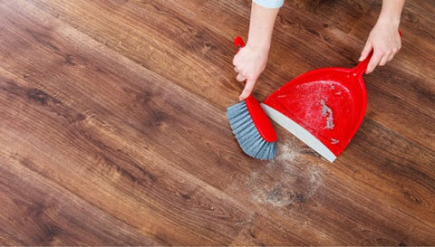 Sweeping up the floor