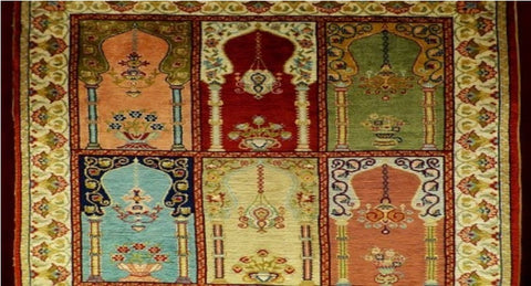 Vintage rugs for dining room