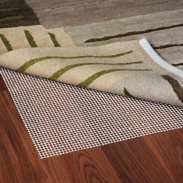 Rubber pad with an entryway rug