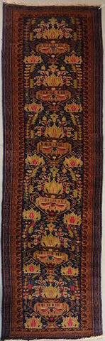 Vintage runner rug for high traffic areas