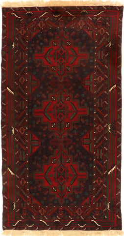 Baluch-Bukhara Vintage Rug for high traffic areas