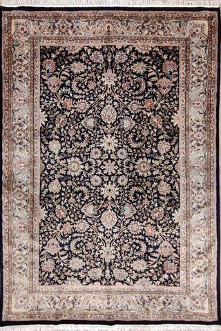 Black Allover without Medallion; Area rug for high traffic areas