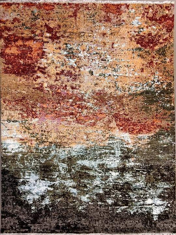 Colourful Abstract Modern Rug; Trending Carpet