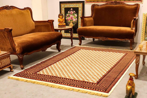 Mughal tribal (litchi) with furniture; trending carpet