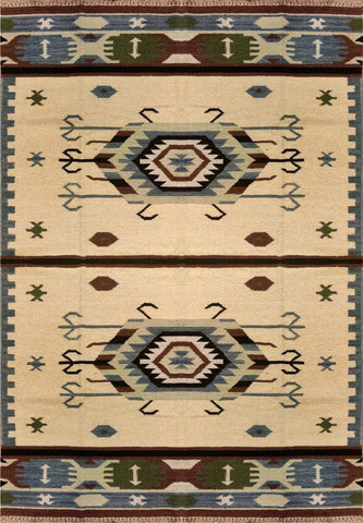 Dhurrie rug for dining room