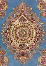 Load image into Gallery viewer, The Rugs Cafe 6x9 / Blue Blue Medallion Traditional Rug