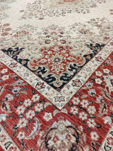 Load image into Gallery viewer, The Rugs Cafe 9x12 / Cream Red Cream Traditional Rug with Medallion