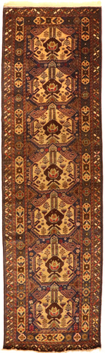 The Rugs Cafe Carpets 3.6x10 Khurasan Runner Vintage Rug