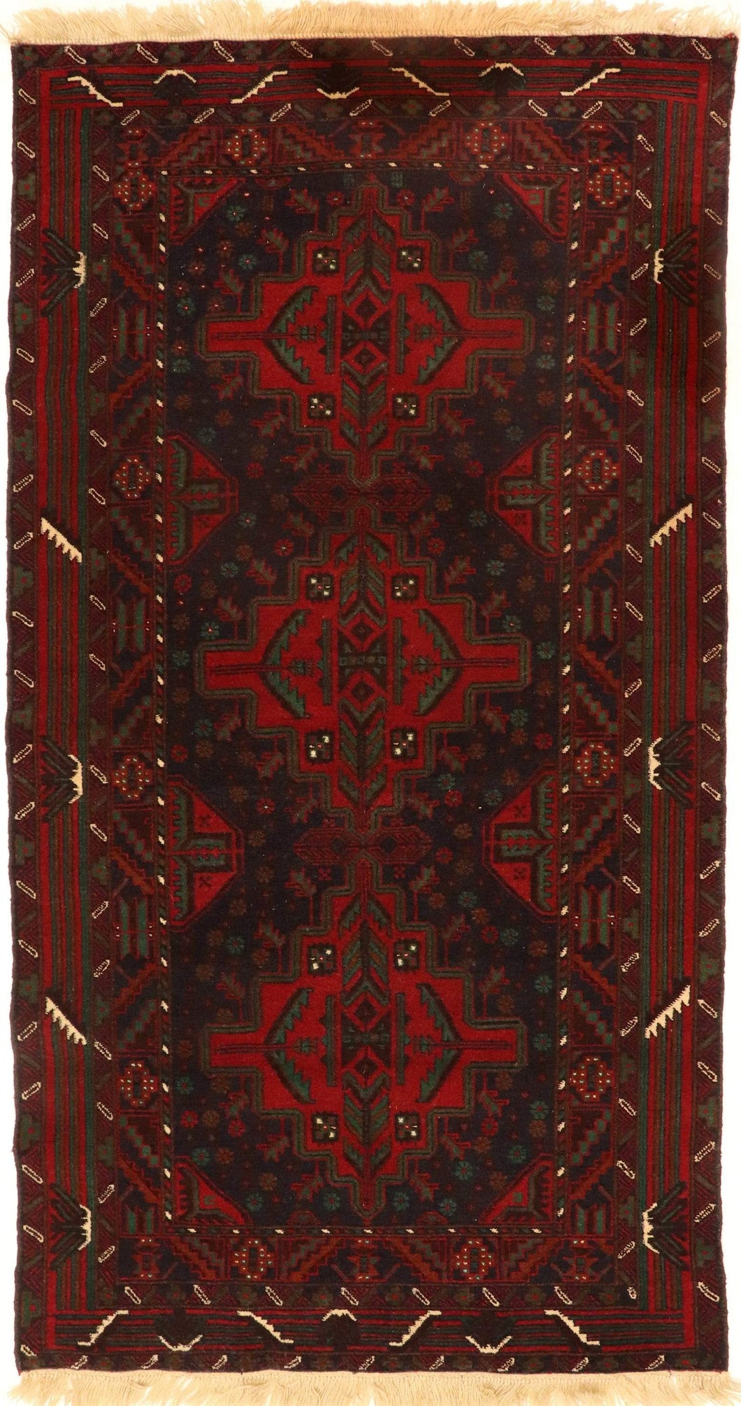 The Rugs Cafe Carpets 3.6x6.10 Baluch-Bukhara Vintage Rug