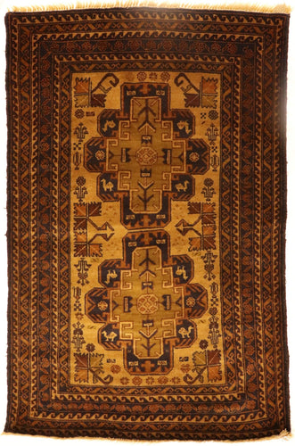 The Rugs Cafe Carpets 3x4.10 Khurasan Gold Vintage Rug