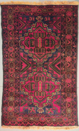 The Rugs Cafe Carpets 3x5 Khurasan Red Vintage Rug