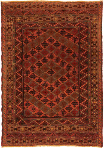 The Rugs Cafe Carpets 4.1x5.10 Kilim-Carpet Vintage rug