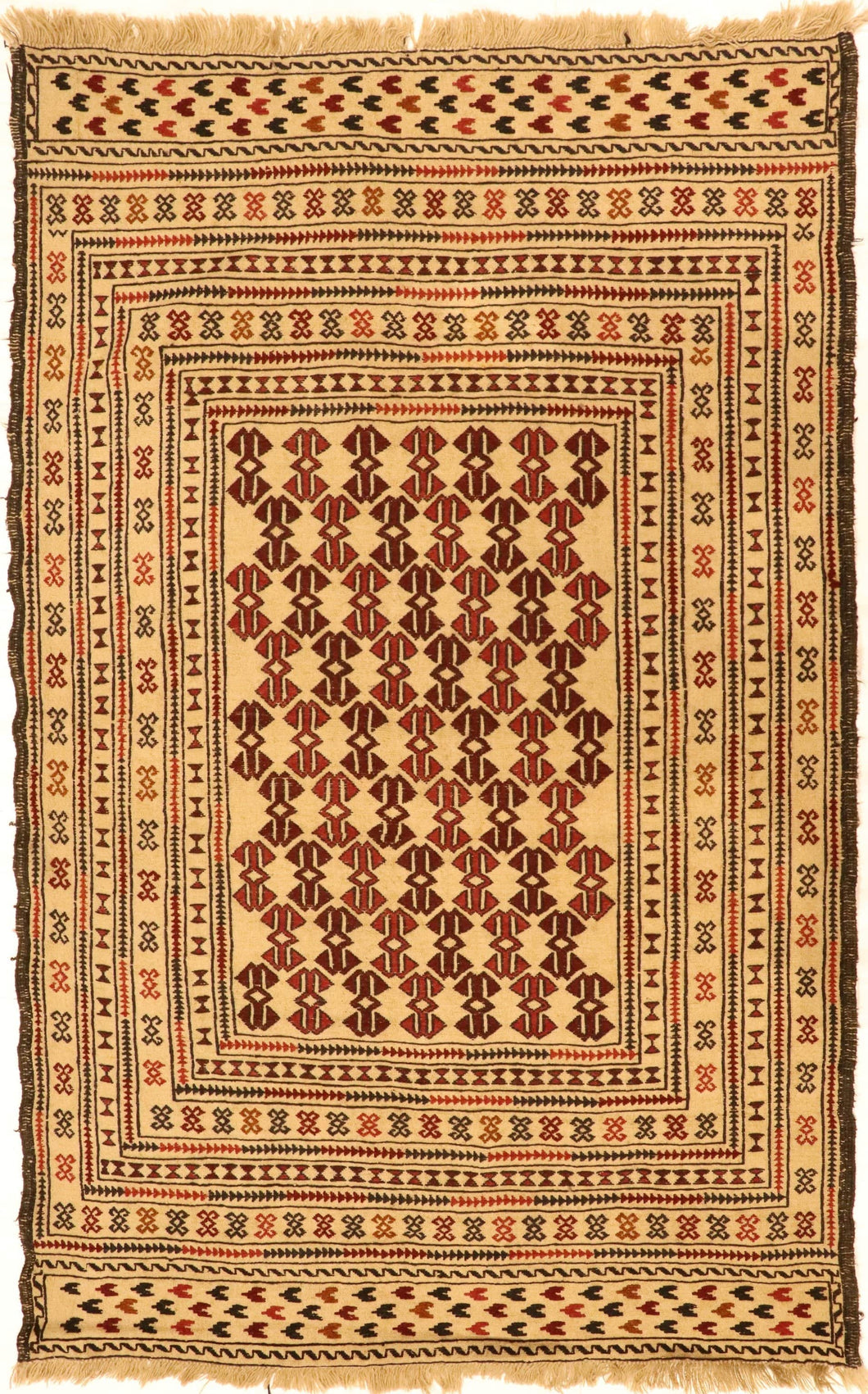 The Rugs Cafe Carpets 4X6.2 Kilim Hand-Knotted Vintage Area Rug