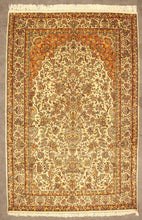 Load image into Gallery viewer, The Rugs Cafe Carpets 4x6 / White Tree of Life Hand-Knotted Silk Rug