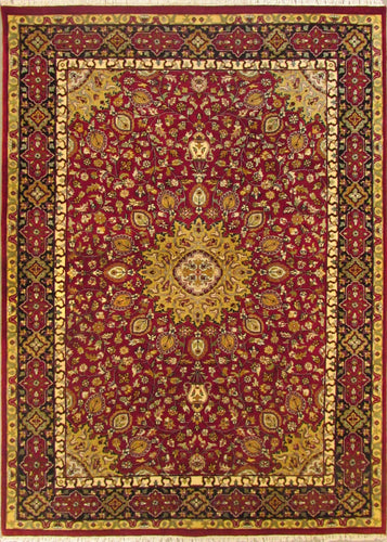 The Rugs Cafe Carpets 5x7 / Red Ardabil Red