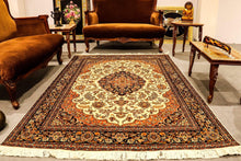 Load image into Gallery viewer, The Rugs Cafe Carpets 5x7 / White Charbagh (Four Gardens) Design Silk Carpet - White