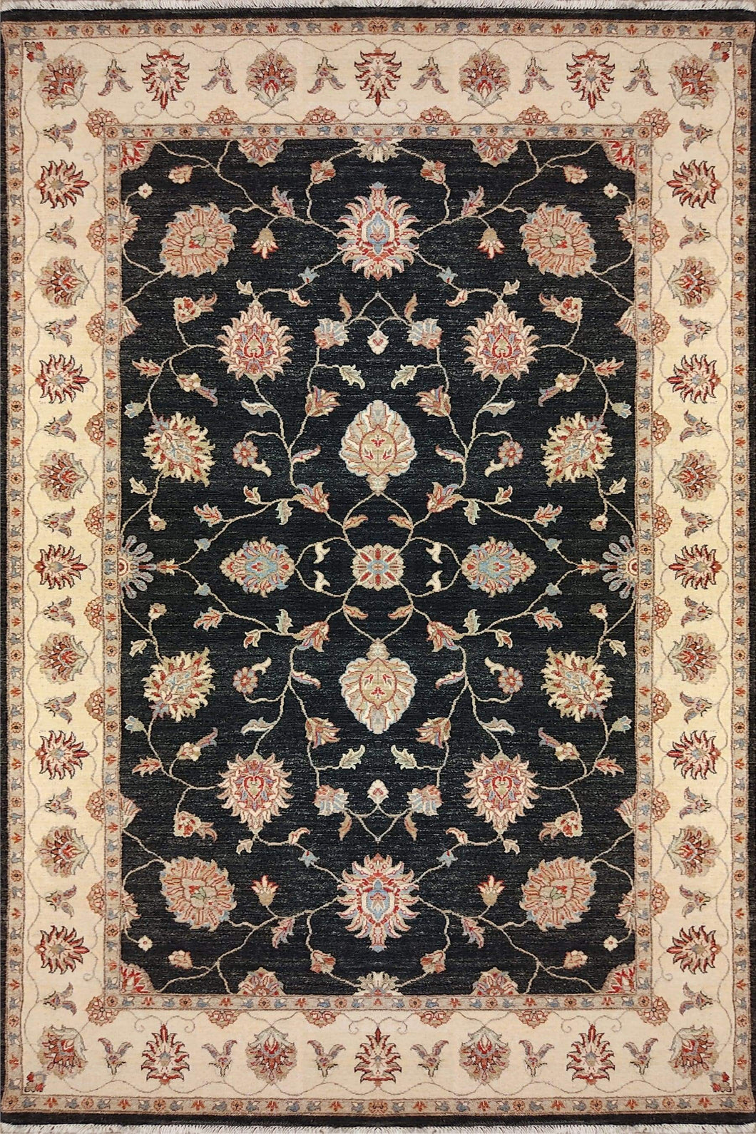The Rugs Cafe Carpets 6x9 / Black Chobi Hightwist Rug Black
