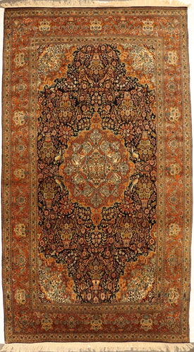 The Rugs Cafe Carpets 6x9 Masterpiece Silk Vintage Rug