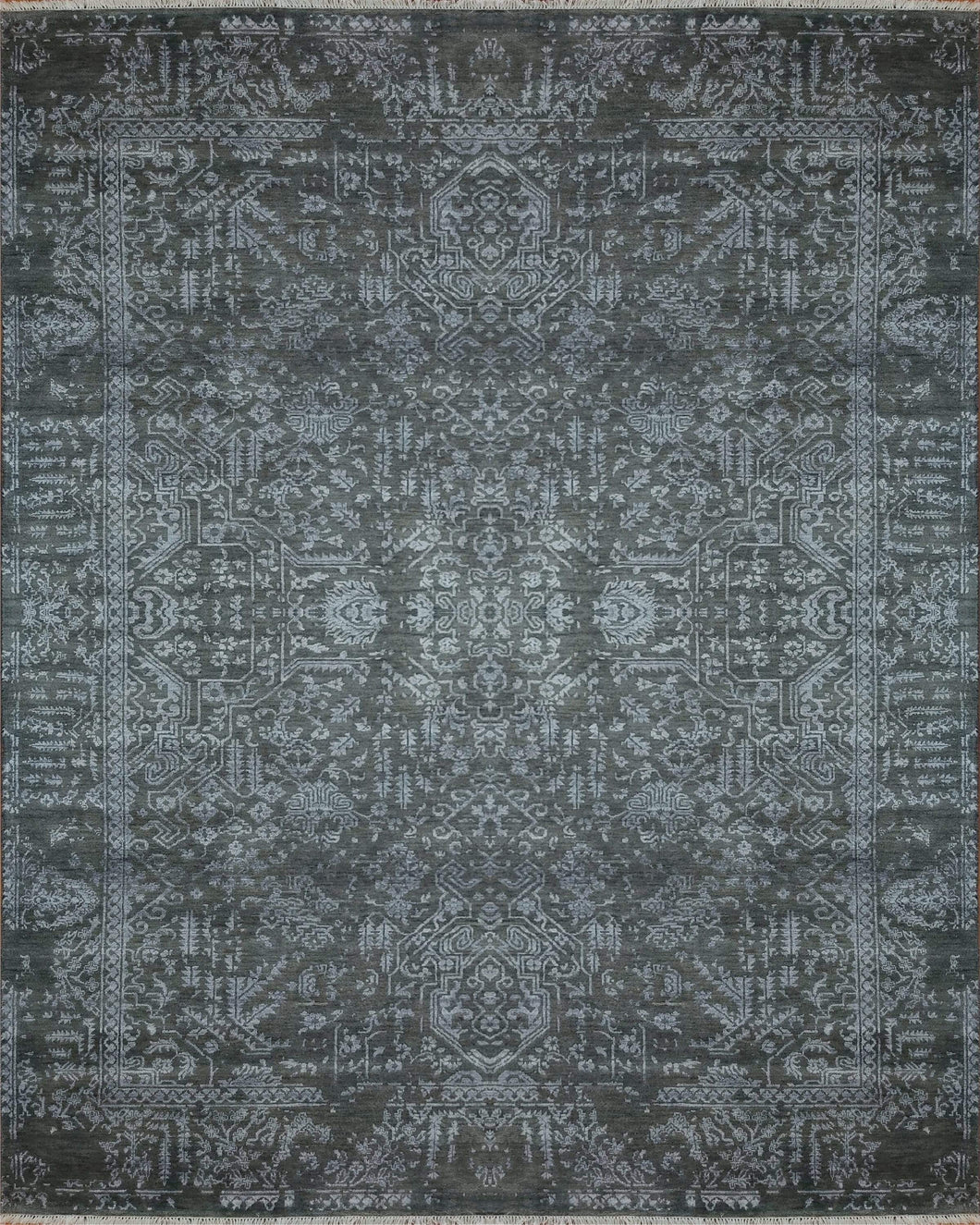 The Rugs Cafe Carpets 8x10 Blue Transitional Modern Rug for Living Room, Bedroom, Dining Room, and Office