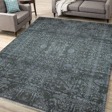 Load image into Gallery viewer, The Rugs Cafe Carpets 8x10 Blue Transitional Modern Rug for Living Room, Bedroom, Dining Room, and Office