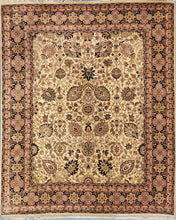 Load image into Gallery viewer, The Rugs Cafe Carpets 8x10 / Cream All Over Design Carpet [Premium Quality]: Symmetric Hand-Knotted Area Rug White 8 x 10