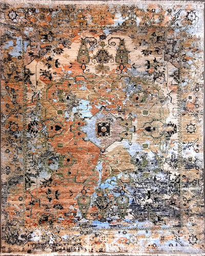 The Rugs Cafe Carpets 8x10 Ultra Modern Rug with Medallion for Living Room, Bedroom, Dining Room, and Office