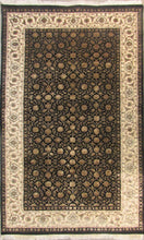 Load image into Gallery viewer, The Rugs Cafe Carpets Black / 3x5 Herati Design Carpet(Black)