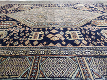 Load image into Gallery viewer, The Rugs Cafe Carpets Black / 4x6 Mughal Tribal Design Carpet Transitional Black 4 x 6